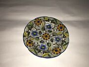 Lb2 Staffordshire Salopian Pearlware Cup Plate Floral Acorn Pattern Ca. 1820