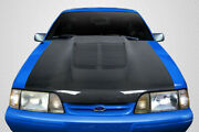 Carbon Creations Gt500 V2 Hood - 1 Piece For 1987-1993 Mustang