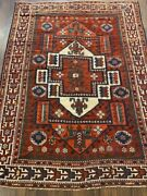 1880and039s Antique Vintage Tribal Bergame 5.8x7.5ft