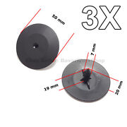 3x Hood Insulation Pad Retainer Clips For Gm