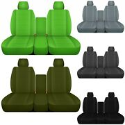 Front Set 40/20/40 Car Seat Covers Fits 2011-2018 Dodge Ram 1500/2500/3500