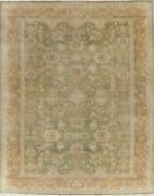 Antique All-over Oushak Vegetable Dye Area Rug Hand-knotted Oriental Carpet 9x11