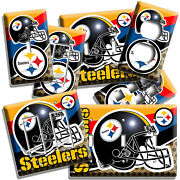 Pittsburgh Steelers Football Team Light Switch Outlet Plates Room Man Cave Decor