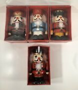 Christmas Wooden Nutcrackers Vintage Lot Of 4