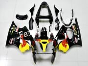 Fit For 2000-02 Zx6r / 2005-08 Zzr600 Black Yellow Red Abs Injection Fairing Kit