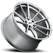 4ea 19 Staggered Tsw Wheels Bathurst Silver Forged Rims S1