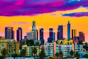 Los Angeles Electric Negative Science Fiction Printed High Quality Wall Art