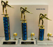 Pool Trophies 9 Ball Tournament 1st2nd3rd Free Engraving Ships 2 Day Mail