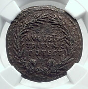 Augustus Authentic Ancient 17bc Rome Dupondius Roman Coin Ngc Certified I81440