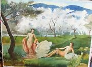 Beautiful 1940 Signed Watercolor By Listed Artist Fred Penney