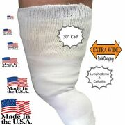 Beyond Extra Wide Bariatric Sock For Extreme Lymphedema Calf Stretches Up To 30