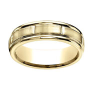 10k Yellow Gold 6mm Comfort-fit Satin-finished 8 High Polished Band Ring Sz-13