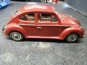Vintage Bandai Vw Bug Beetle Tin Toy Car For Parts - Does Not Work