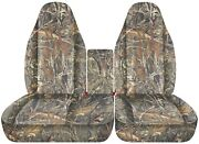 Front Set Car Seat Covers Fits Ford F150 Truck 97-03 40/60 Highback W/ Console