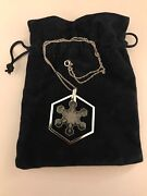 """Crystal 1981 1st Edition Snowflake Ornament W/pendant And 17"""" Necklace"""
