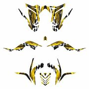 Yamaha Raptor 700r Graphics 2006 - 2012 Full Coverage Decal Kit 3500 Yellow