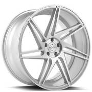 4ea 22 Blaque Diamond Wheels Bd-1 Silver With Polished Face Rims S6