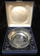 Rare Lim Ed. 1970 Caithness Glass Etched Mayflower Commemorative Ashtray