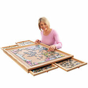 Deluxe Jigsaw Puzzle Workspace Organizer With Drawers