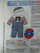 Daisy Kingdom Fabric Panel Raggedy Andy Classic Outfit And Ball For 25 Doll
