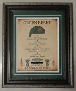Mc-best Army Special Forces Jfk Quote Framed Matted Personalized