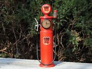 Handmade Tin Phillips 66 Previsible Clock Face Gas Station Pump Model- Tinplate