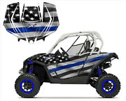 Can Am Maverick Graphics Kit With Door Wrap 2013-2016 Thin Blue Line Us Flag