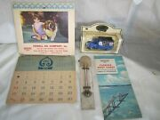 Vintage Standard Oil Lot -thermometer Calendarroad Map - Die Cast Truck