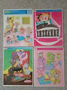 Lot Vtg Whitman And Sesame Street Frame-tray Puzzles 11x14 Kiddles Baby Doll Cats