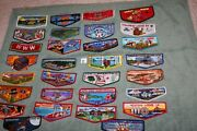 Order Of The Arrow Oa Boy Scouts Lot Of 30 Different Oa Flaps H