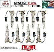 8pc Oem Ford For 2004-2007 Ford F-350 Super Duty 6.0l V8 Diesel Injectors