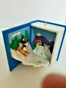 Hallmark 2002 Mickey Mouse And Donald Duck The Great Ski Challenge Ornament