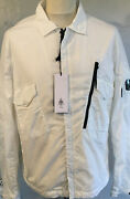 Cp Company Mens 37a Overshirt.white.size Xl.nwt.100 Authentic.
