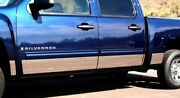 Stainless Steel 9 Rocker Panel 14pc - Chevy Silverado Crew Cab 5.8and039 Sb 07-13
