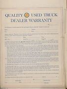 Rare Antique Ok Used Truck Warranty Contracts - Set Of 25