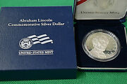 2009 United States Mint Abraham Lincoln 90 Silver Coin W/coa And Display Box