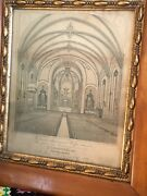 Primitive Packard And Butler Pa Antique Church Art Wood Gold Gesso Wall Frame 1883