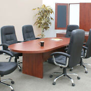 Bargain 6ft - 10ft Conference Room Table - Cherry Mahogany Or Ash Gray