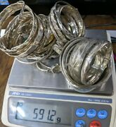 Sterling Silver Bangle Lot Of 45 591.1 Grams Store Close Out Sale Not Scrap