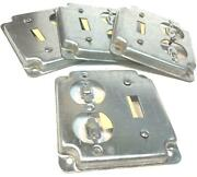 Steel City 2 Gang 4 Rs Duplex/toggle Switch Square Box Cover [ Lot Of 4 ]