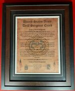 Mc-best Army Drill Sergeant Creed Framed Matted Personalized