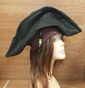 Authentic Disney Pirates Of The Caribbean Jack Sparrow Collectible Hat Read