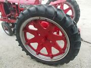 2 9.5 R40 Tractor Rowcrop Radial Tires 99 Tread Ih F14 F12 H Cast Hubs And Rims