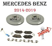 Rear Brake Pads With Brake Disc Rotors And Sensor Set For Mercedes W222 S550 S560