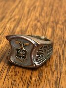 Vintage Wwii Usaf Military United States Air Force Ring Nice Cool Rare