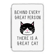 Behind Every Great Person Is A Great Cat Case Cover For Kindle 6 E-reader Funny