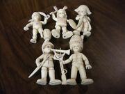 5 Vintage Plastic Figurines Made In Italy