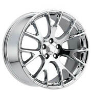 4ea 22 Staggered Challenger Hellcat Wheels Fr 70 Chrome Oem Replicas2