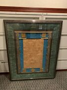 Rare Harris Strong Mid Century Composition/ Mirror Signed Wall Art 51.7 H X 41.w