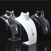 Acrylic Necklace Displays Mannequin Jewelry Showing Stand Portrait Rack Shelf
